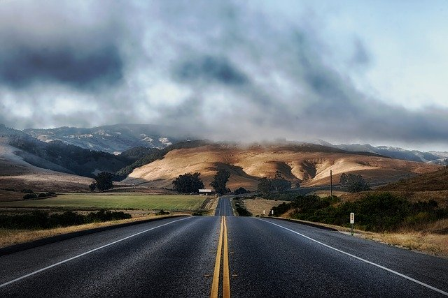 A road in California.