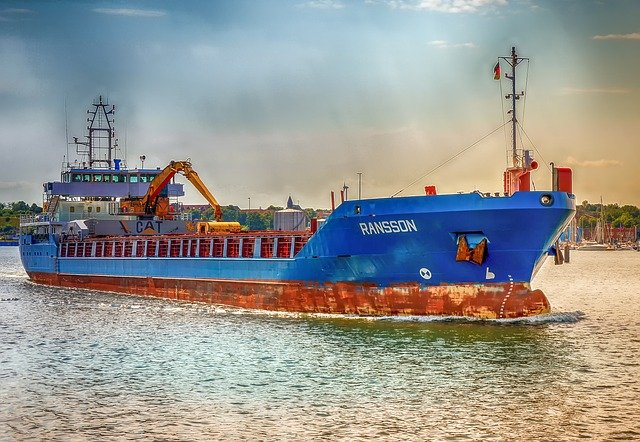 Shipping via sea.