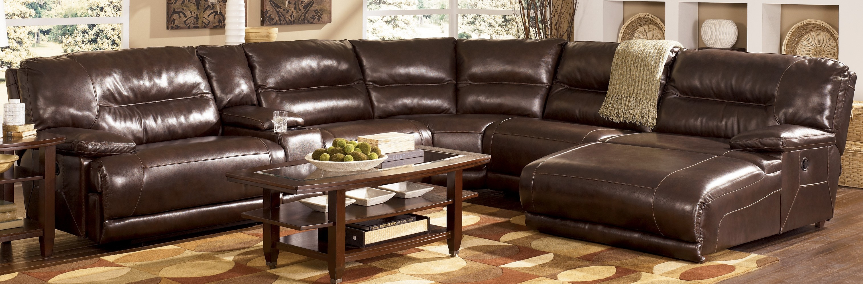 Leather Sectional Chaise Lounge