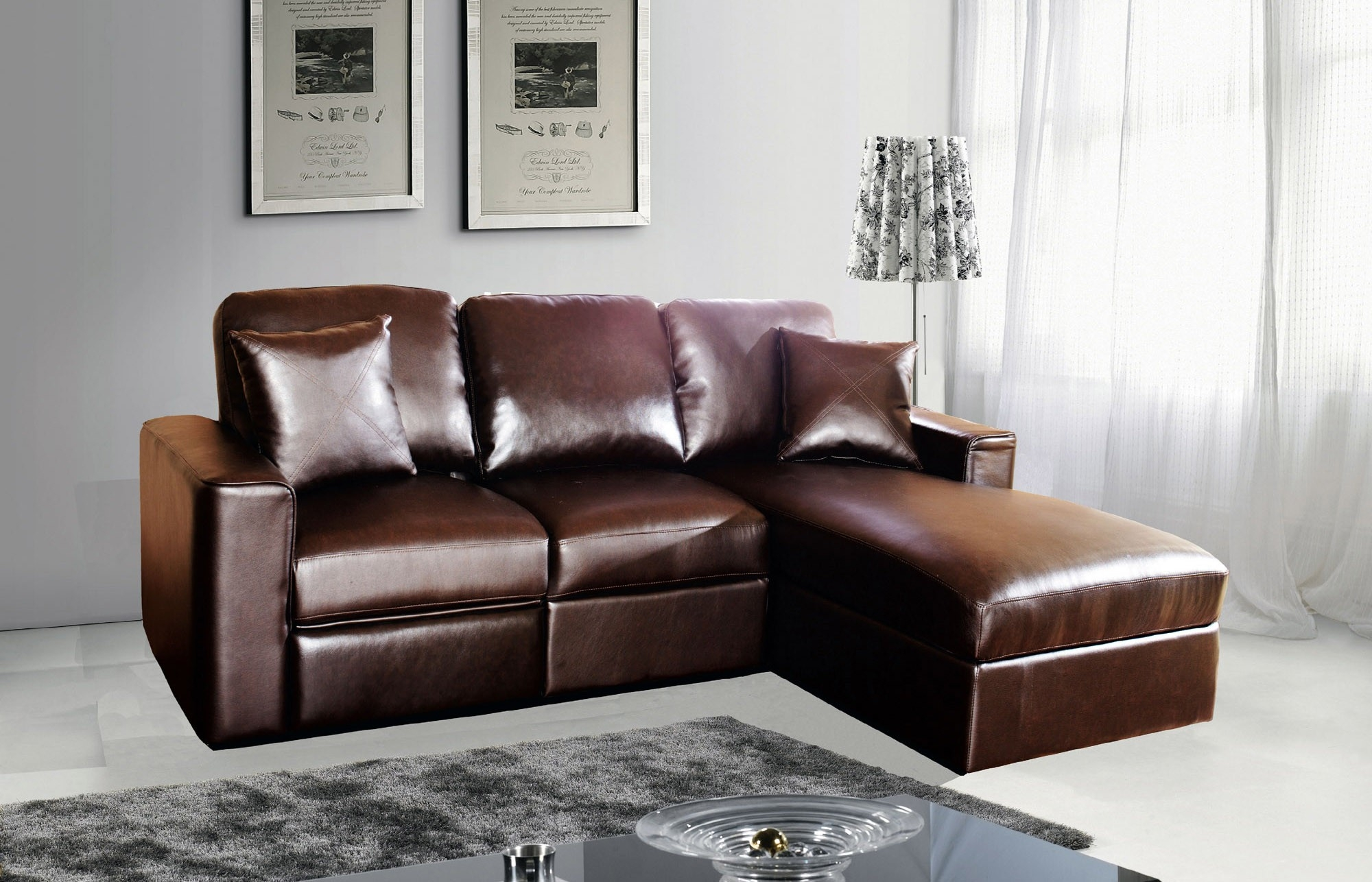 Sleeper Leather Sofa Couch