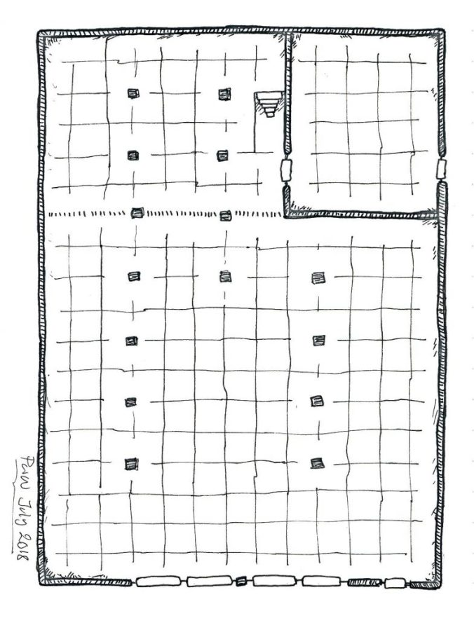 Sinister warehouses - hideouts for thieves, smugglers, cultists, renegade mages - are fundamental building blocks for fantasy roleplaying game city adventures. Criminal groups carry out their activities in plain sight in the heart of the city, often with the city ruler's blessing.
