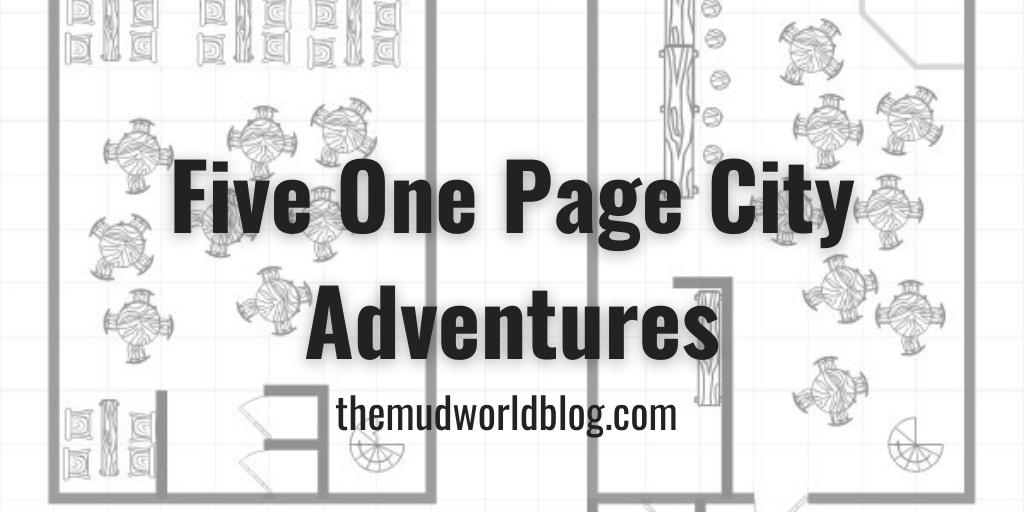 Five One Page City Adventures