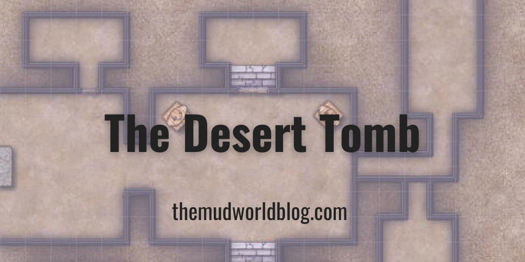 The Desert Tomb VTT Map and One Page Dungeon