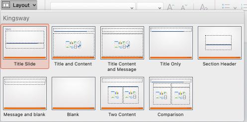 Custom slide master templates