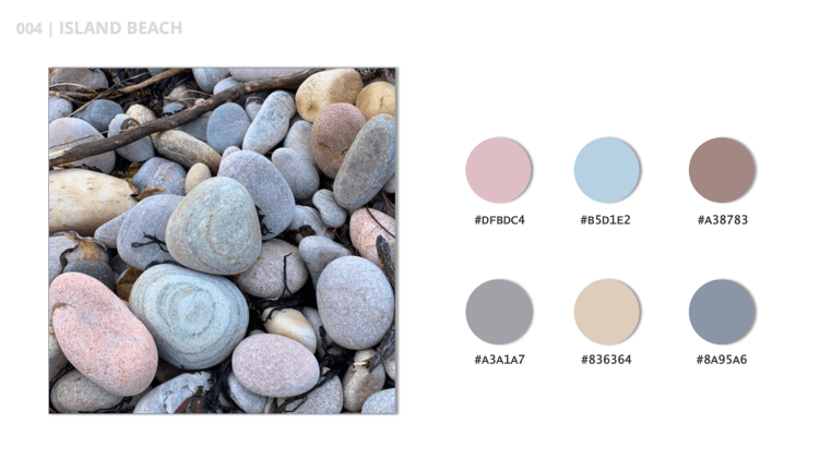 Island Beach is the title of this pastel color palette.