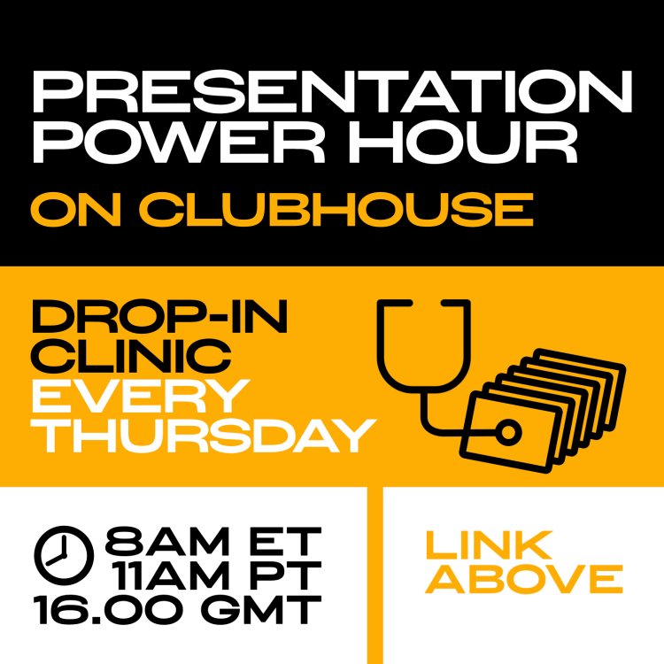 Presentation Power Hour on Clubhouse