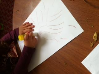 Fall-Inspired Sensory Bin and Crafts homeschool