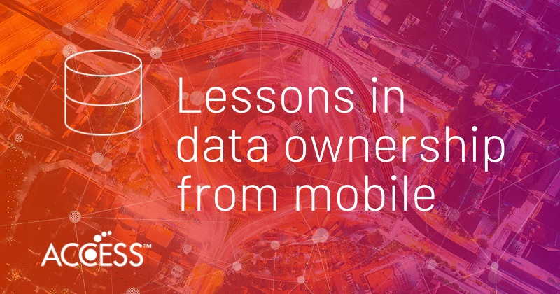 Lessons in data ownership from mobile