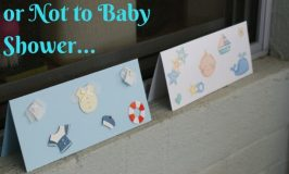 To Baby Shower or Not to Baby Shower… #MummyMondays