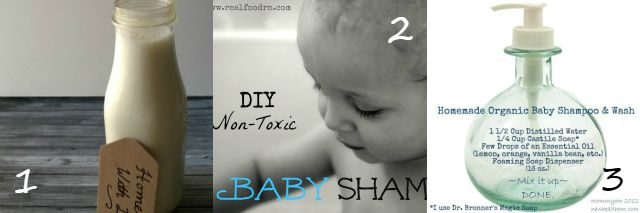 Homemade natural baby shampoo wash