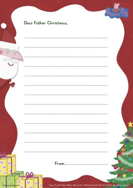 Peppa Pig Printable Christmas Worksheets