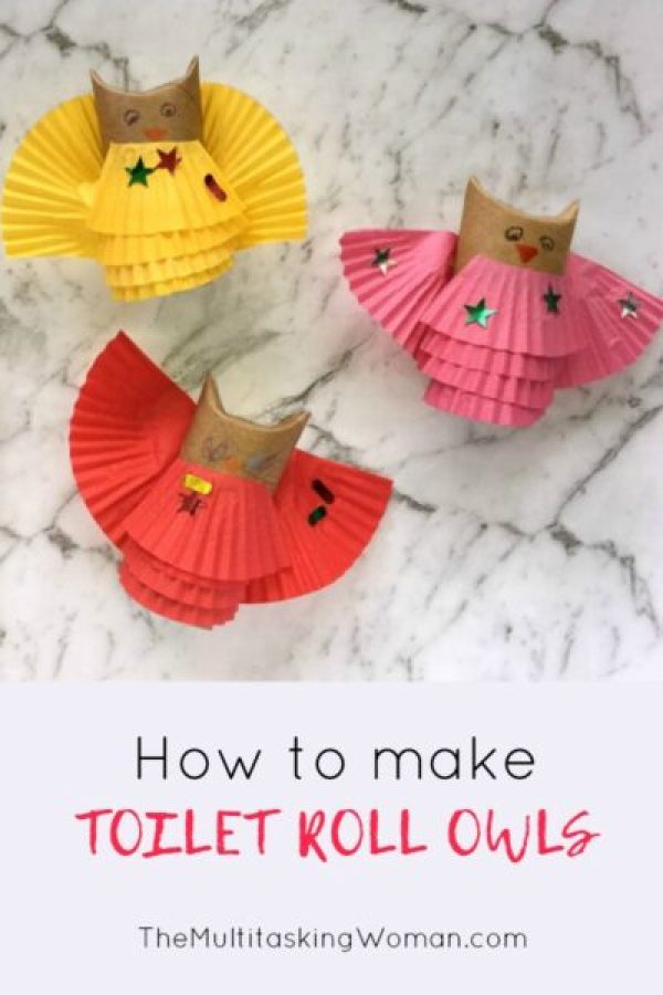 How to make toilet roll owls pin