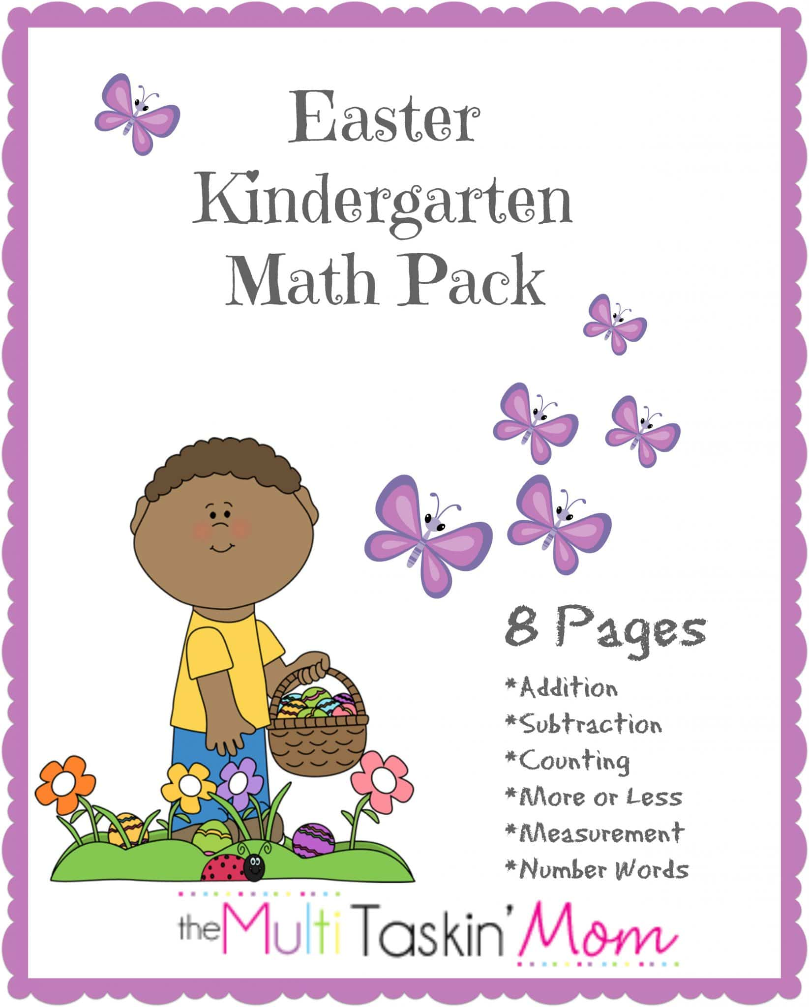 Crazyccritter Educational Freebie Easter Kindergarten