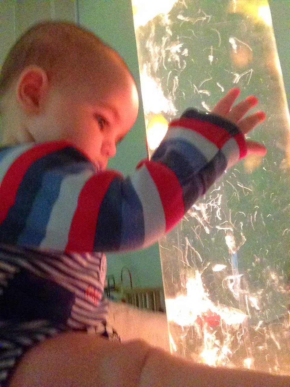 Arthur in the sensory room