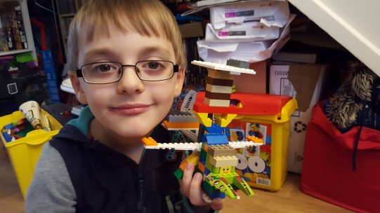 Jack made a plane with an impressive wing span.