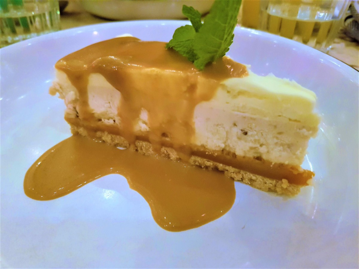 Toffee and Banana Cheesecake from Turtle Bay
