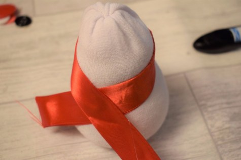 Christmas Snowman Sock Decoration
