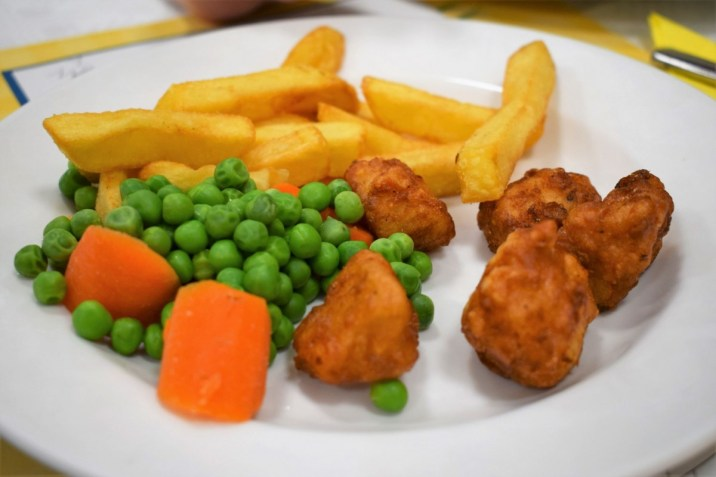 Children's Chicken Nugget and Chips