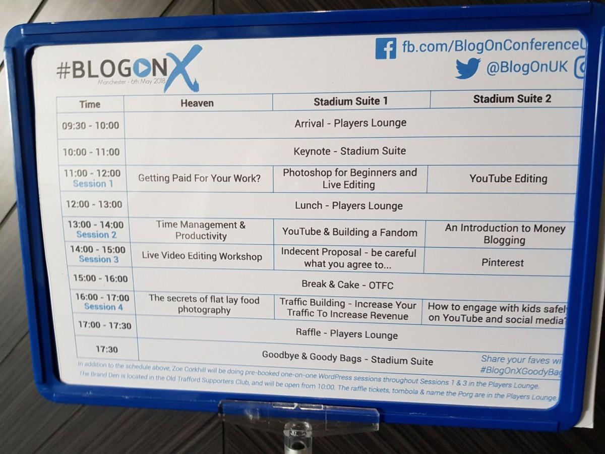 BlogOn Schedule