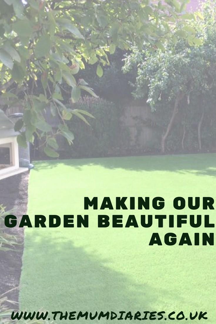 making our garden beautiful again using artifical grass