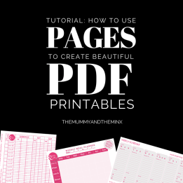 Create lovely printable PDFs using Mac's Pages