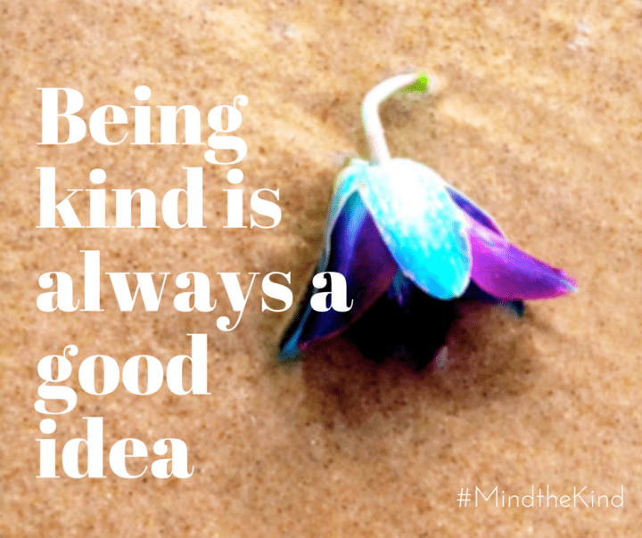 Being kind is always a good idea