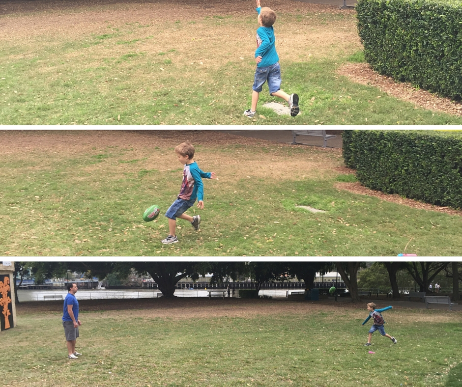 Footy with Dad - keeping things fun and fit