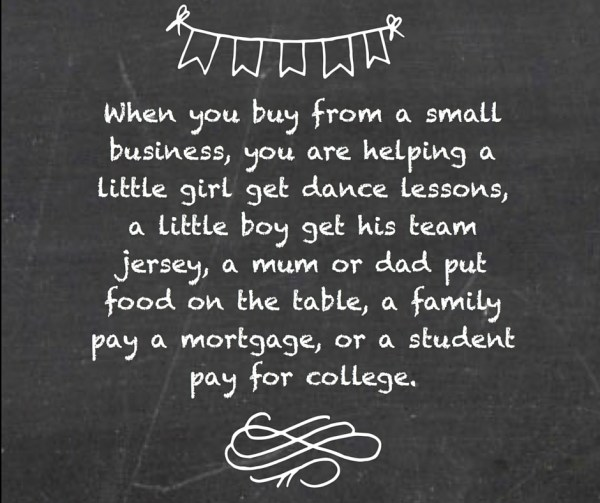 Shop Local Blackboard