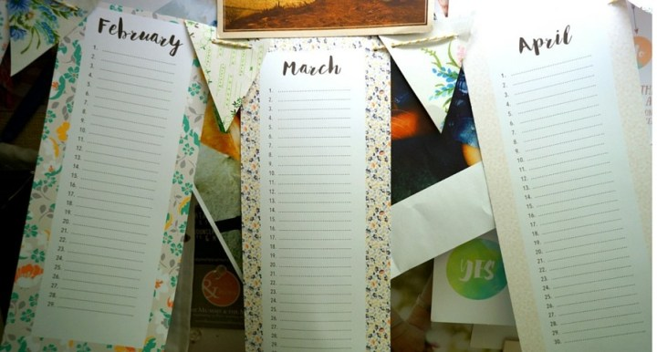 Free Perpetual Calendar Bunting Download