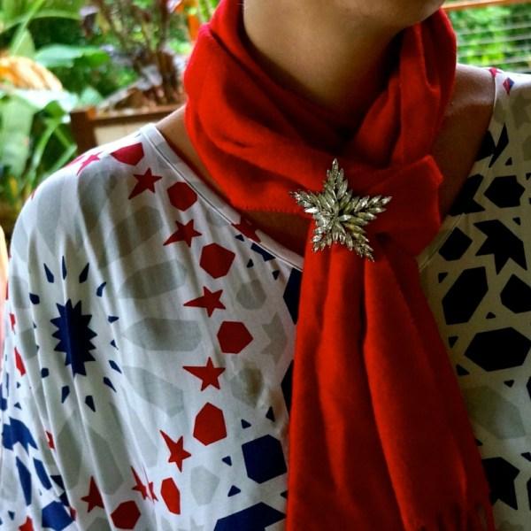 brooch - add to scarf
