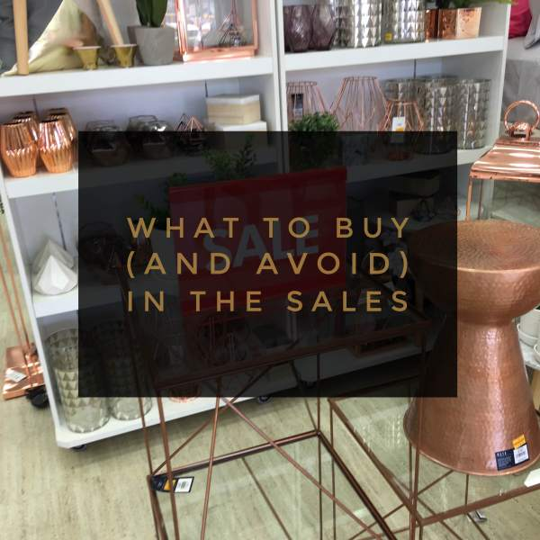 What to buy and avoid in the sales