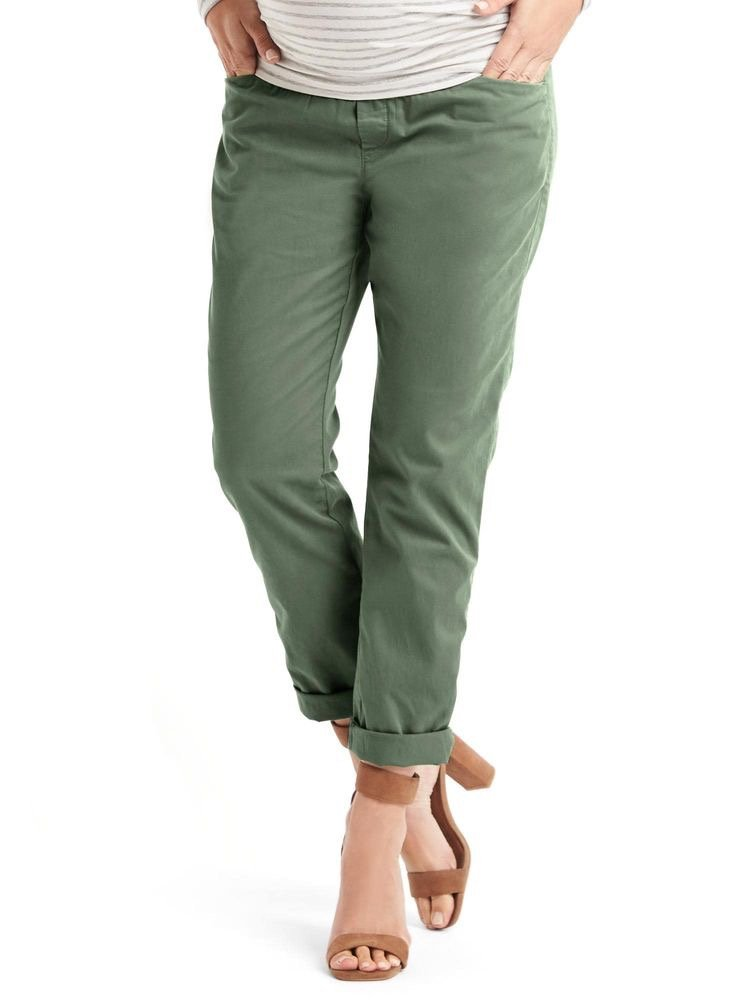 Green Gap maternity trousers