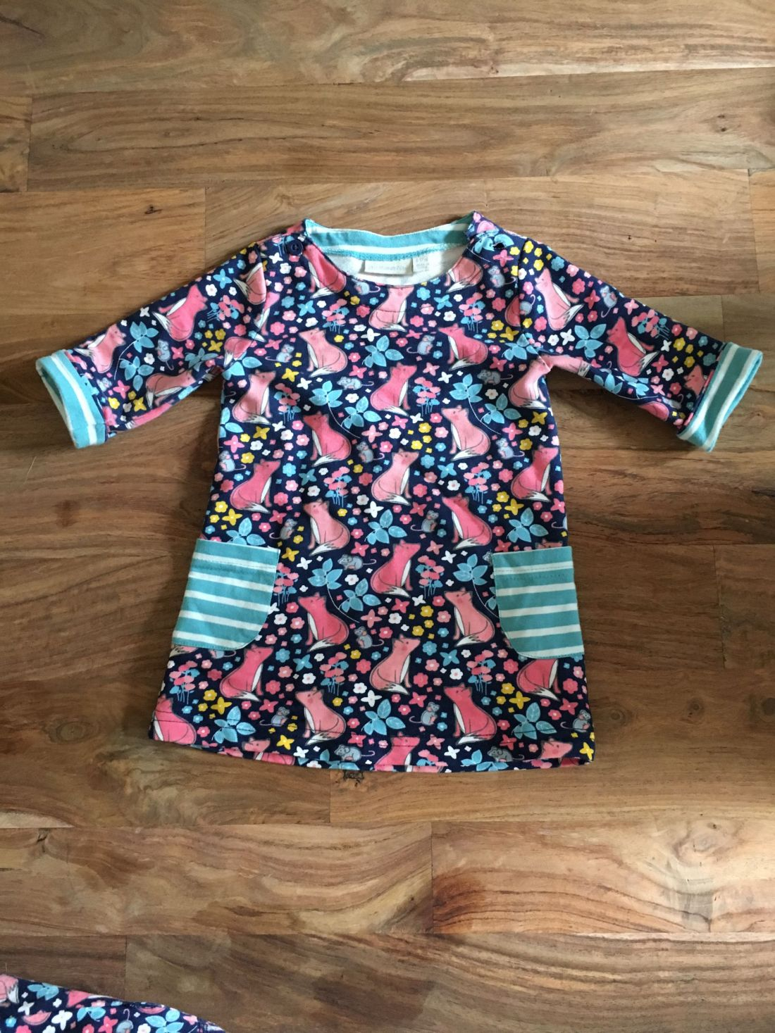 Fox print dress for baby girls by JoJo Maman Bebe