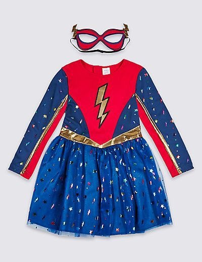Halloween superhero girl costume