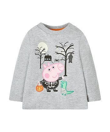 Peppa pig Halloween top featuring George Pig - glow in the dark