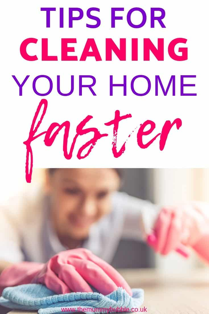 tips for cleaning your home faster