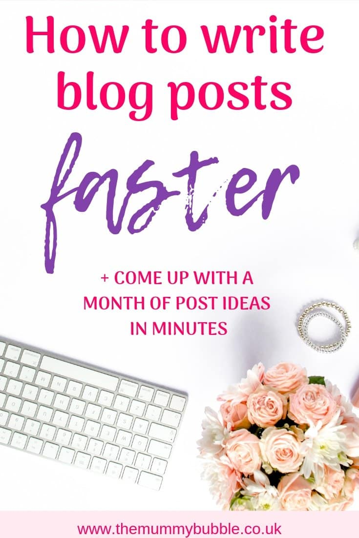 How to write blog posts faster and come up with a month of post ideas in minutes