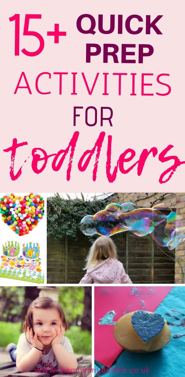 15 quick and easy toddler activities