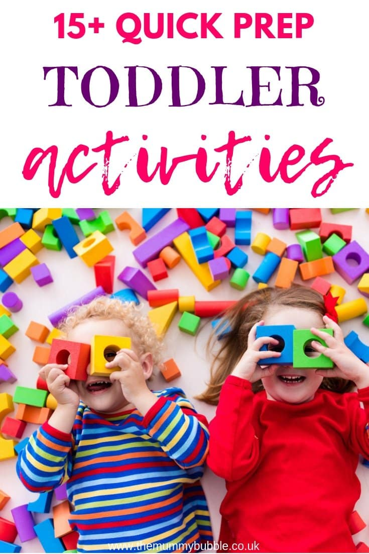 15 quick prep toddler activities