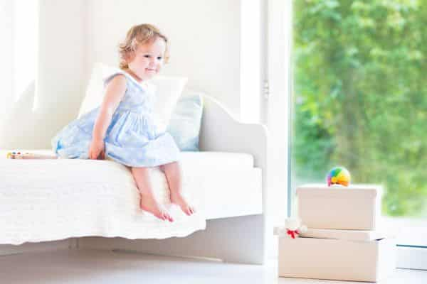 when to take railings off toddler bed