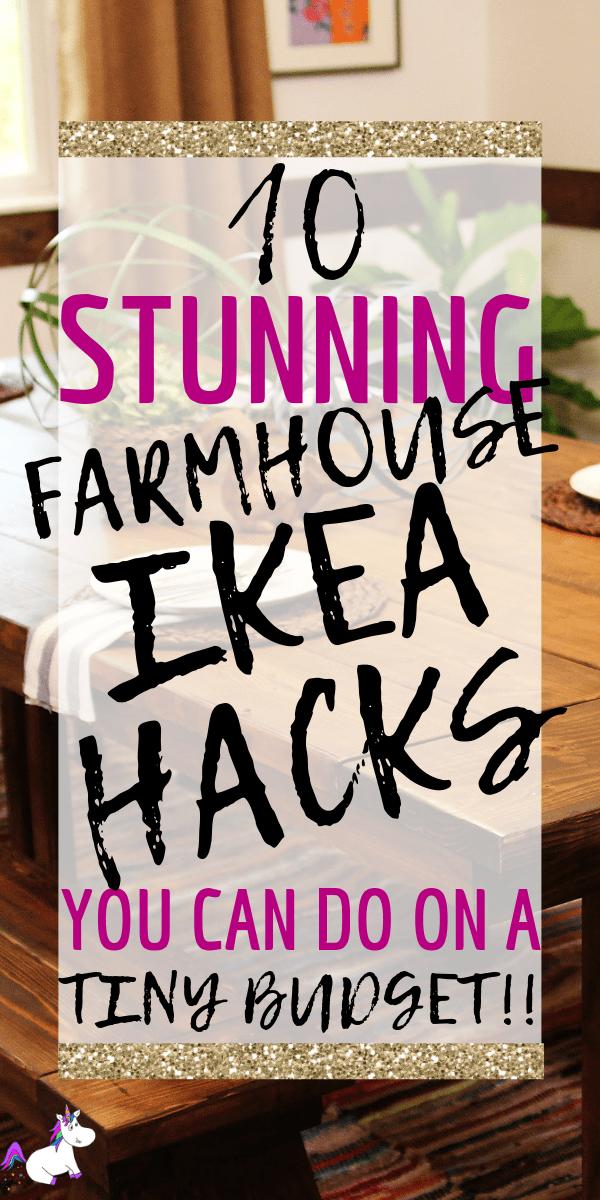 10 Farmhouse Ikea Hacks You Must See via: https://themummyfront.com #ikea #ikeahacks #ikeaides #farmhouse #farmhousestyledecor #farmhousedecor #homedecor #budgethomedecor #cheap #roomidea #themummyfront #homedecordiy #diy #diyikeahacks