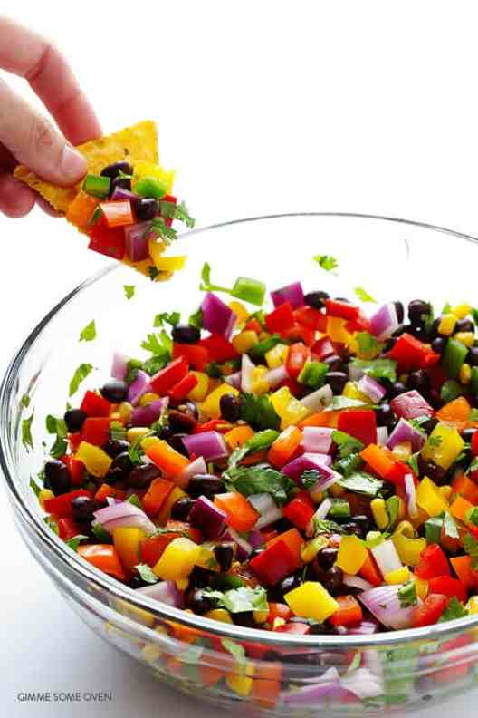 Summer Party Ideas | rainbow salsa #gardenpartyideas