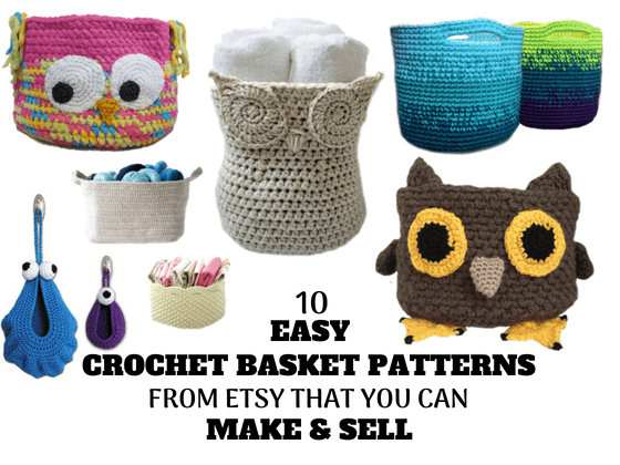 10 Easy Crochet Basket Patterns From Etsy That You Can Make & Sell ...