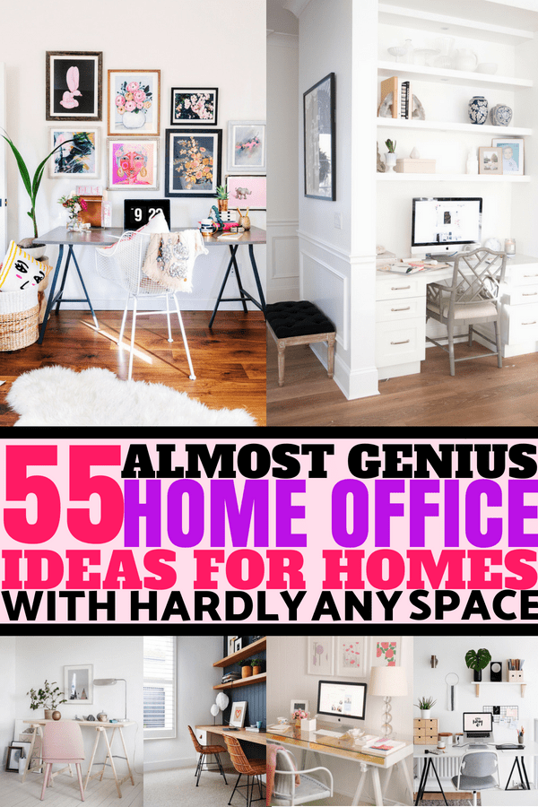 55 Stunning Small Home Office Ideas That Will Make You Want To Work Overtime #homeofficeideas #smallhomeofficeideas #officeinteriordesign #workfromhome