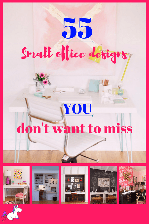 55 small home office ideas that will make you want to work overtime #officeinteriordesign #homeoffice