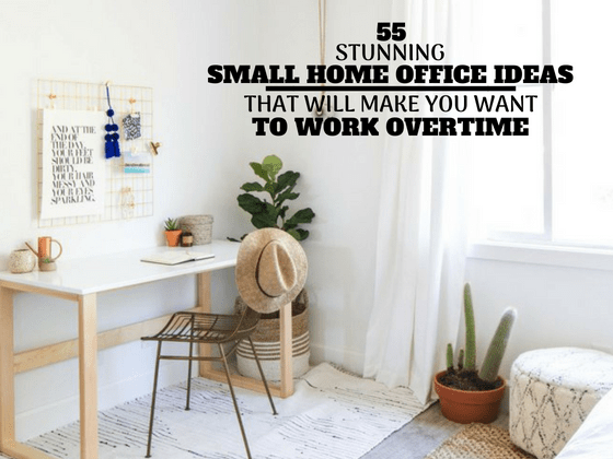 55 Small Home Office Ideas that Will Make You Want To Work Overtime! #homeoffice #smallhomeoffice #smallspaceideas #homeofficeideas