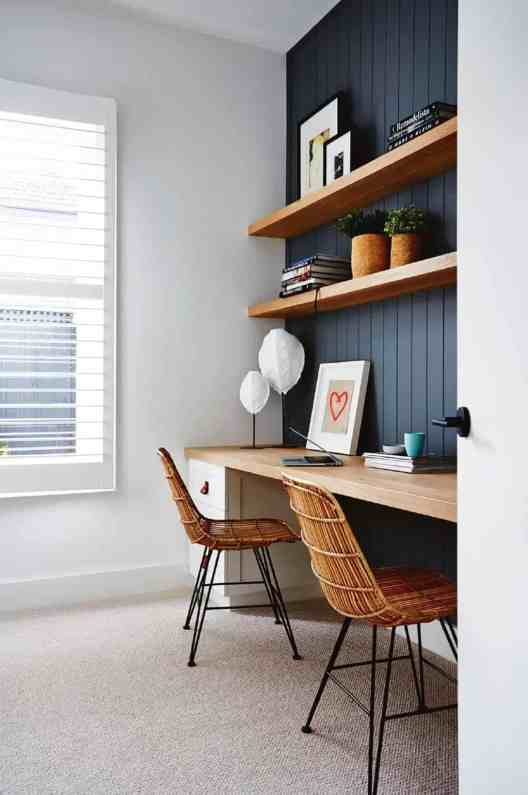 Small Home Office Ideas That Will Make You Want to Work Overtime, modern home office ideas #modernhomeoffice #twoseaterhomeoffice