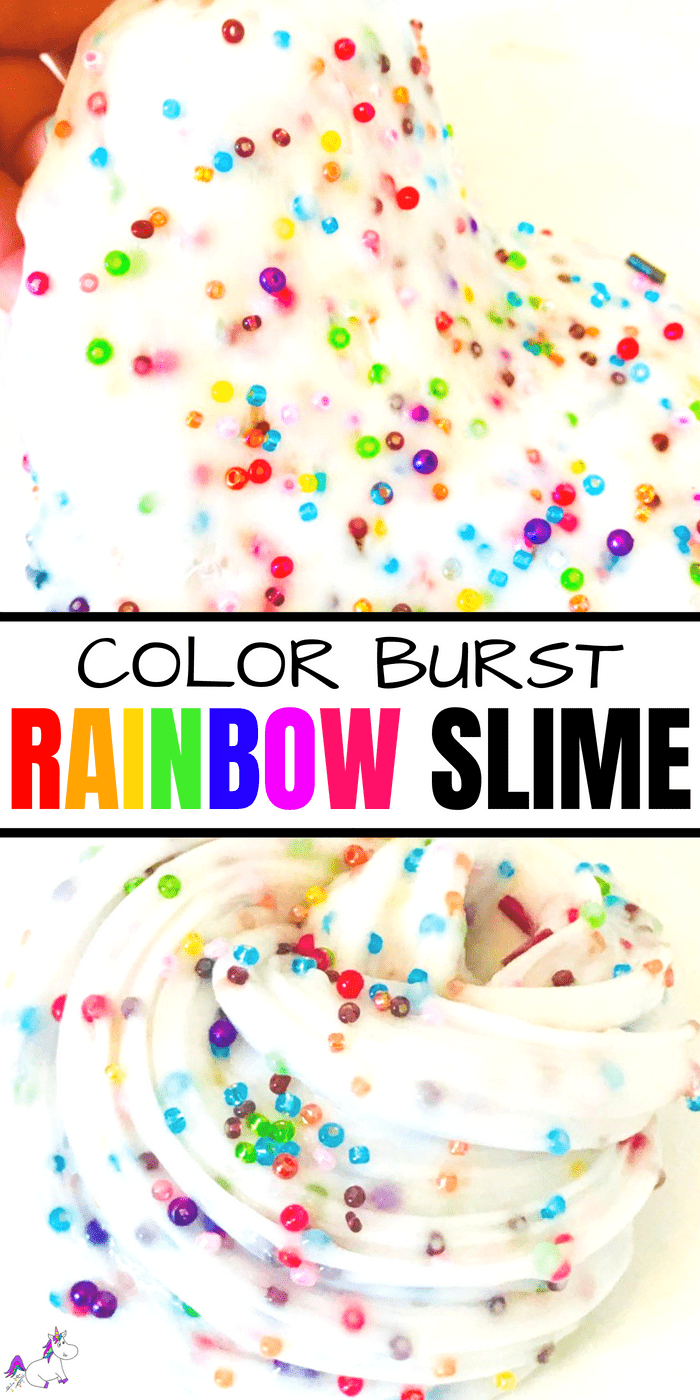How To Make Vibrant Rainbow Slime #kidscraft #activitiesforkids #slime #rainbow #color #prettyslime #stretchyslime