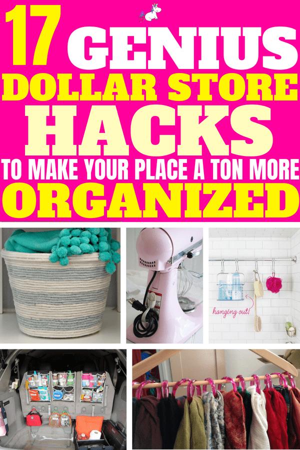 17 Genius Dollar Store Hacks That You Really Should'nt Miss #dollarstorehacks #lifehacks #organizationhacks #moneysavingideas #homedecor