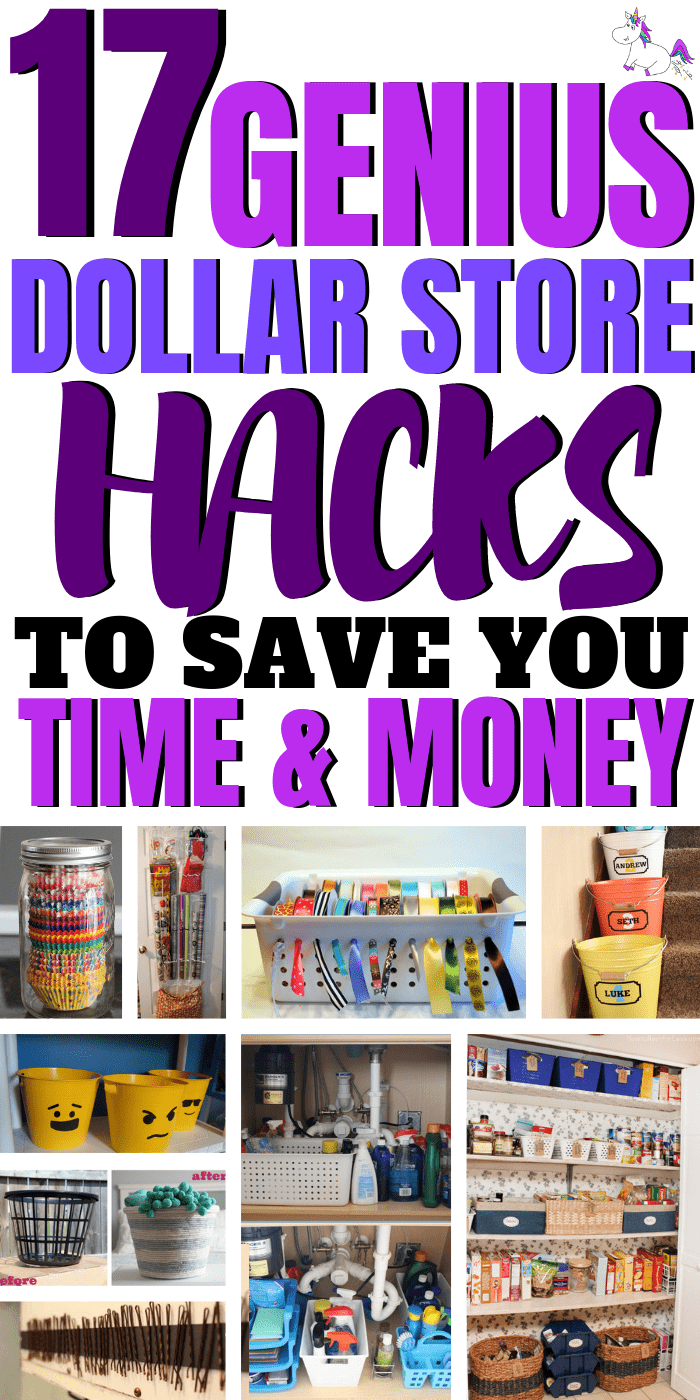 17 Genius Dollar Store Hacks To Save You Time & Money, These DIY dollar store hacks will organize your home & save you a ton of money!